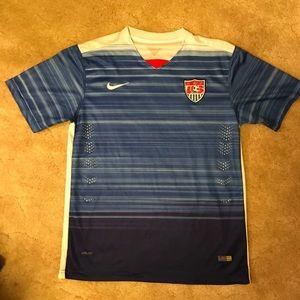 USA Authentic Nike Drifit Soccer Jersey